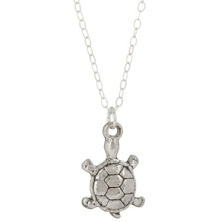 Beach Chic Ride The Waves Sea Turtle Necklace