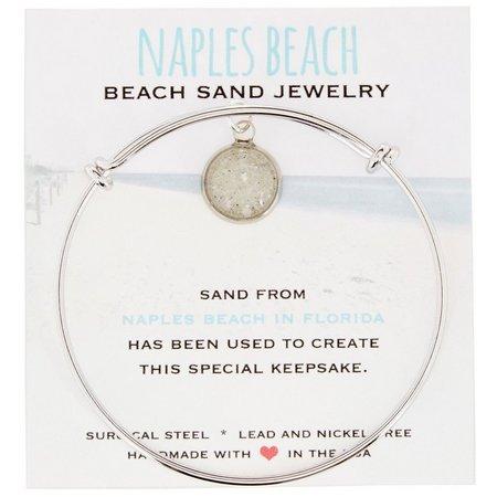 Beach Chic Naples Beach Sand Charm Bangle Bracelet