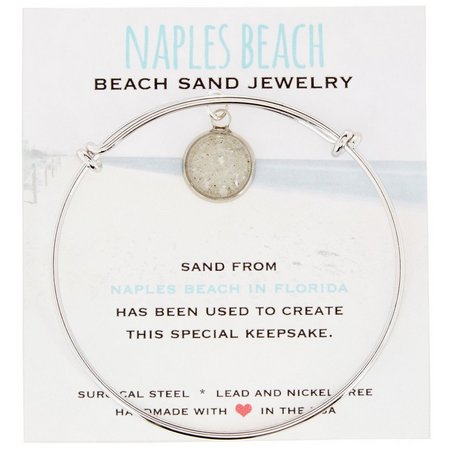 Beach Chic Naples Beach Sand Charm Bangle Bracelet