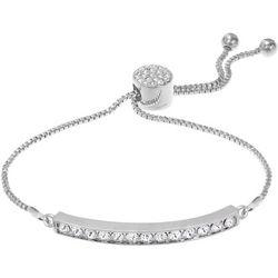 Crystal Elements Clear Channel Bar Slider Bracelet