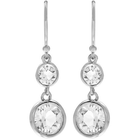 Crystal Elements Clear Crystal Earrings
