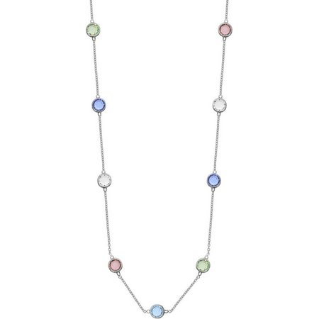 Crystal Elements 24 in. Multi Crystal Necklace