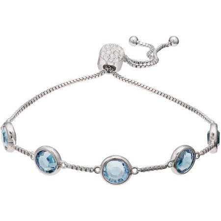 Crystal Elements Aqua Blue Crystal Bracelet