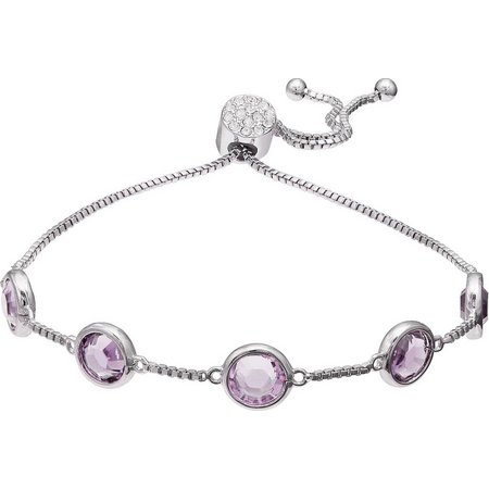 Crystal Elements Amethyst Purple Crystal Bracelet