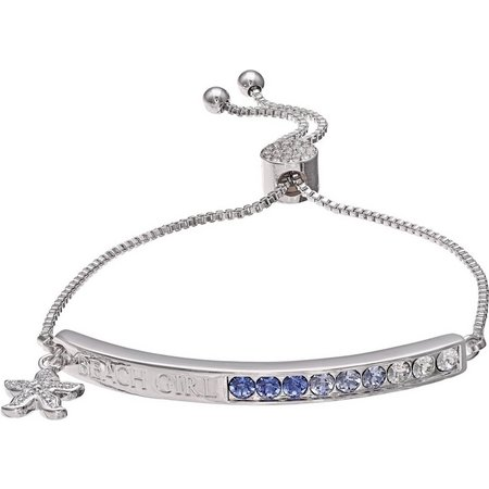Crystal Elements Beach Girl ID Slider Bracelet