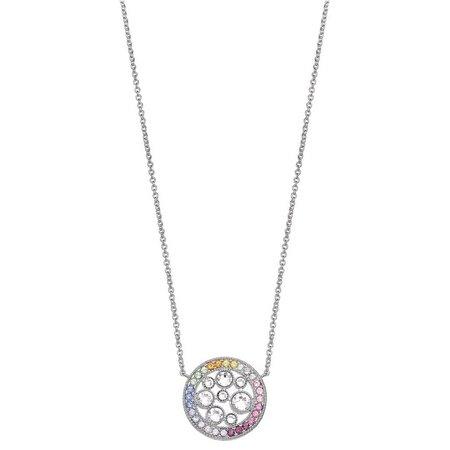Crystal Elements Rainbow Pendant Necklace