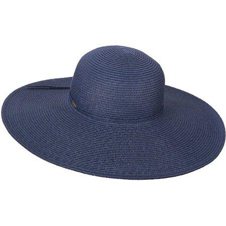 Scala Womens Big Brim Paper Braid Sun Hat