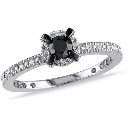 Amour 1/3-ct. T.W. Black Diamond Infinity Ring
