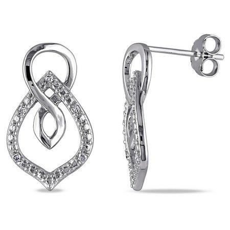 Amour .05-ct. T.W. Droplet Diamond Earrings