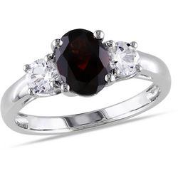 Amour 2-ct. TGW Garnet & White Sapphire Ring
