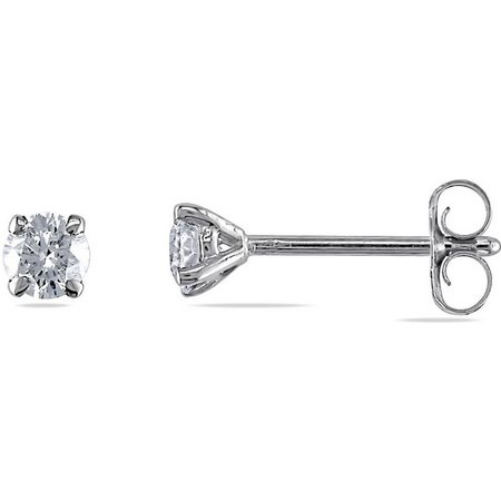Amour 1/4-ct. T.W. Diamond White Gold Earrings