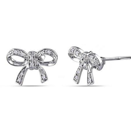 Amour .05-ct. T.W. Diamond Bow Earrings