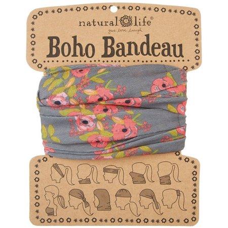 Natural Life Charcoal Blooms Boho Bandeau