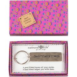 Natural Life Best Friends Always Boxed Keychain