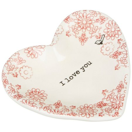 Natural Life I Love You Heart-Shaped Trinket Tray