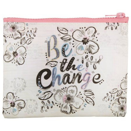 Natural Life Be The Change Zipper Pouch