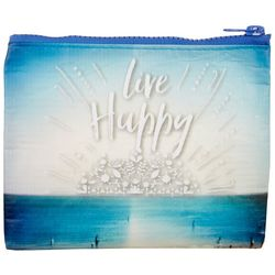 Natural Life Live Happy Zipper Coin Purse