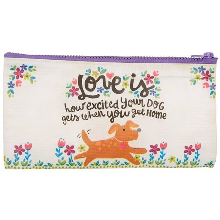 Natural Life Love Is Your Dog Home Zipper