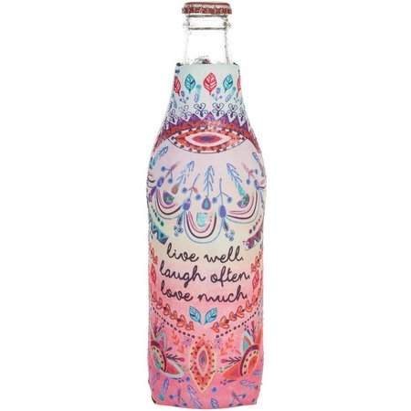 Natural Life Live Laugh Love Bottle Cooler