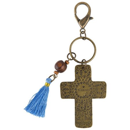 Natural Life Cross Blessed Keychain
