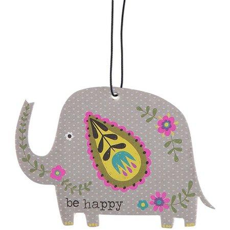 Natural Life Be Happy Elephant Air Freshener