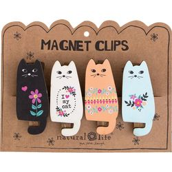 Natural Life 4-pc. Cat Magnet Clip Set