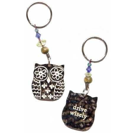 Natural Life Drive Wisely Keychain