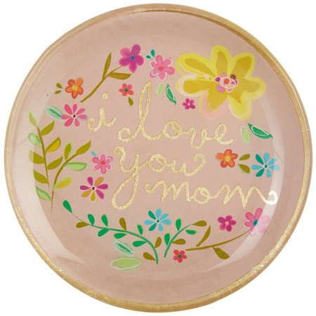Natural Life I Love You Mom Round Glass