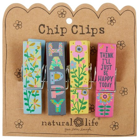 Natural Life Happy Today Chip Clips