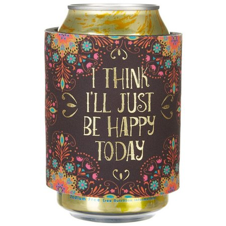 Natural Life Happy Today Slap Bottle/Can Cooler