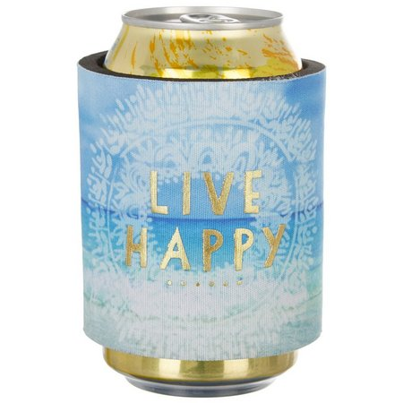 Natural Life Live Happy Slap Bottle/Can Cooler