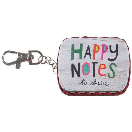 Natural Life Tiny Tin Happy Notes Keychain