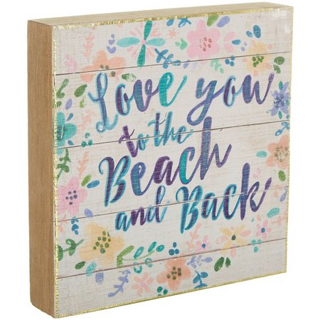Natural Life Beach & Back Bungalow Box Sign