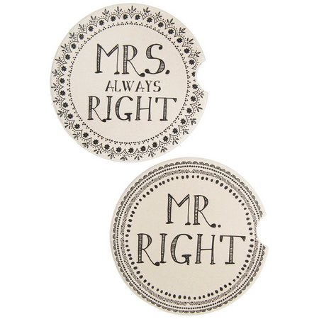 Natural Life Mr. & Mrs. Car Coaster Set