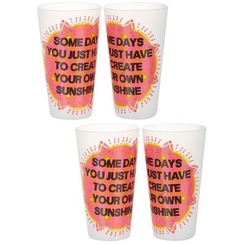 Natural Life Acrylic Cups Set Of 4 With Love Most About Home