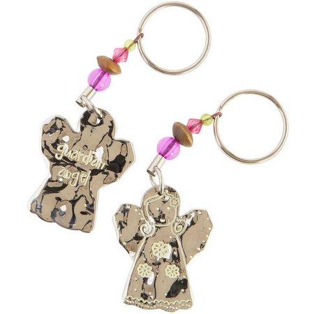 Natural Life Guardian Angel Keychain