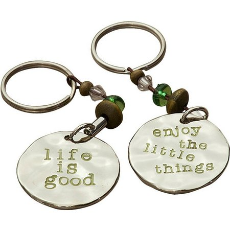 Natural Life Life Is Good Keychain