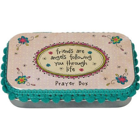 Natural Life Friends Are Angels Prayer Box