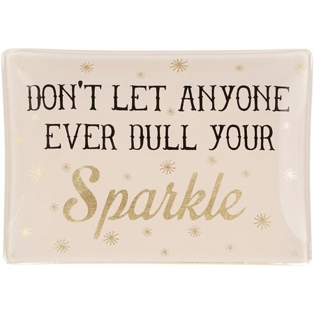 Natural Life Dull Your Sparkle Glass Tray