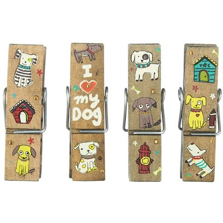 Natural Life 4-pk. Dog Print Chip Clips