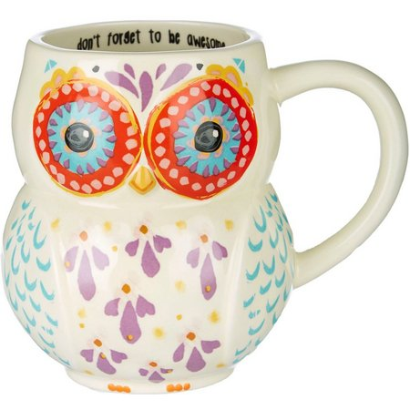 Natural Life Don't Forget To Be Awesome Owl