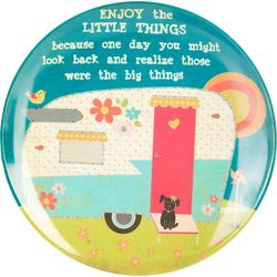 Natural Life Enjoy The Little Things Round Plate
