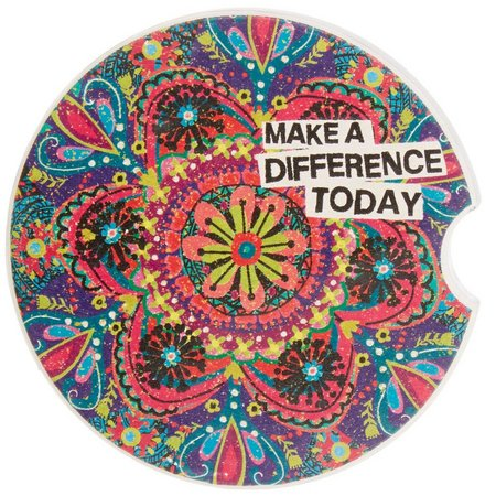 New! Natural Life Make A Difference Car Coaster