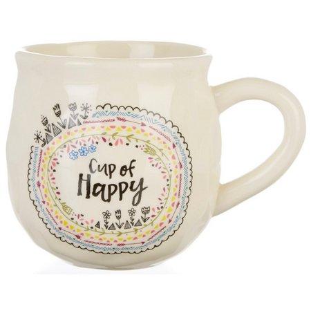 New! Natural Life Cup Of Happy Coffee Mug