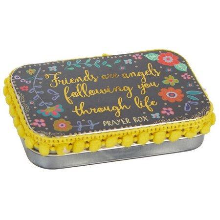 Natural Life Friends Are Angels Tin Prayer Box