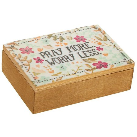 New! Natural Life Pray More Worry Less Box