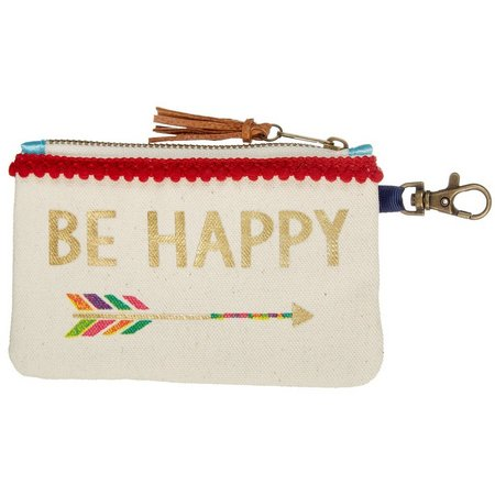 Natural Life Be Happy Arrow ID Pouch
