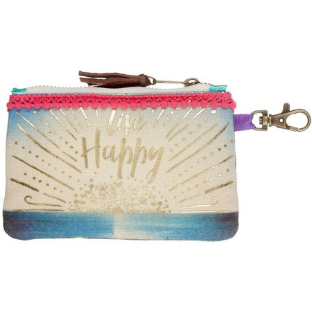 Natural Life Live Happy ID Pouch