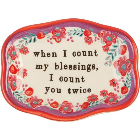 Natural Life Blessings Art Dish