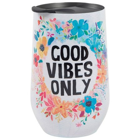 Natural Life Good Vibes Only Wine Tumbler